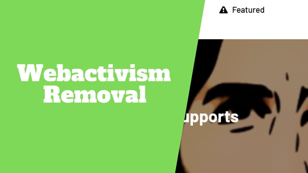 Remove online negative content Webactivism.com