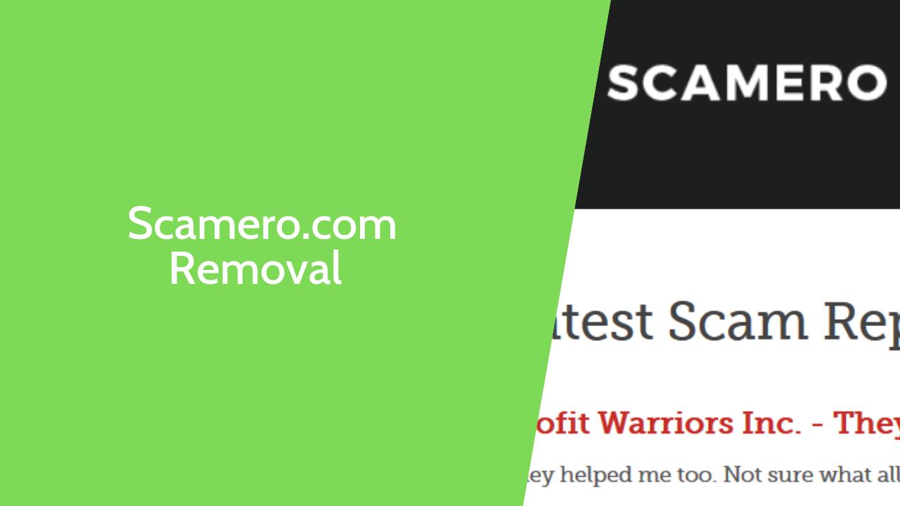 Scamero.com Removal