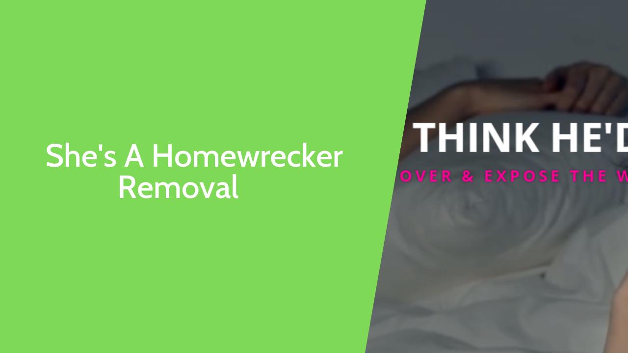Shesahomewrecker.com post removal